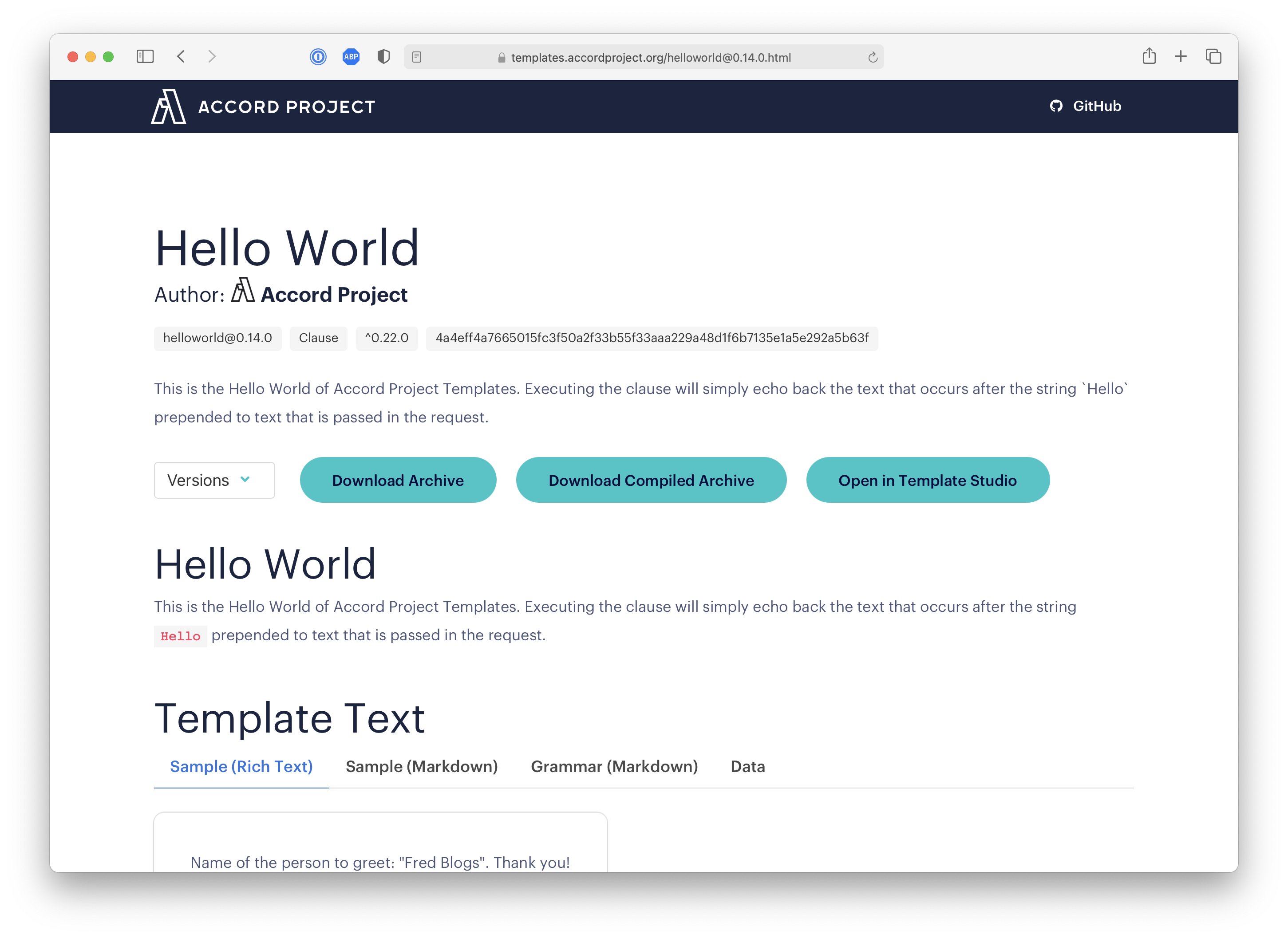 How to Use a Template · Accord Project